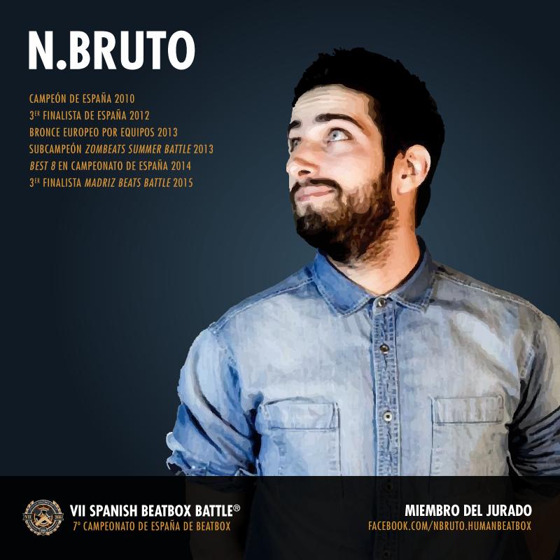 N.Bruto: jurado del 7º Campeonato de España de Beatbox